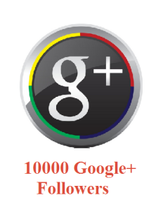 10000 Google+ Followers