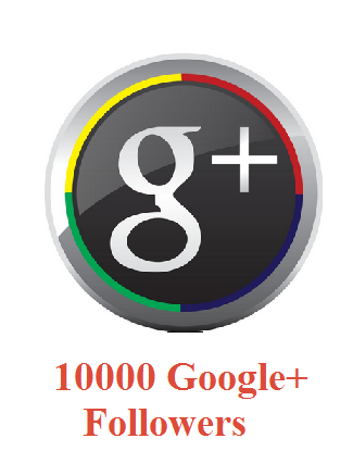 10000 Google+ Followers