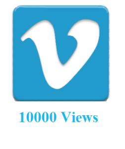 10000 Vimeo Views
