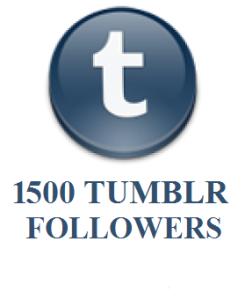 1500 TUMBLR FOLLOWERS