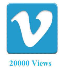 20000 Vimeo Views