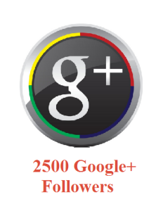 2500 Google+ Followers