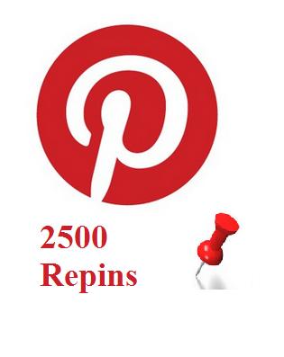 2500 Pinterest repins
