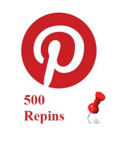 500 Pinterest Repins