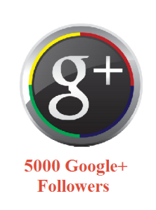 5000 Google+ Followers