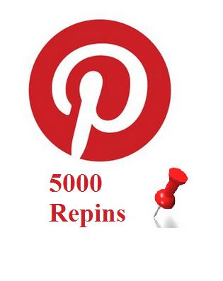 5000 Pinterest repins