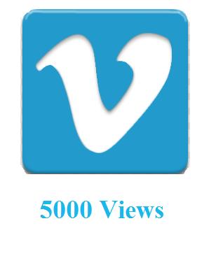 5000 Vimeo Views