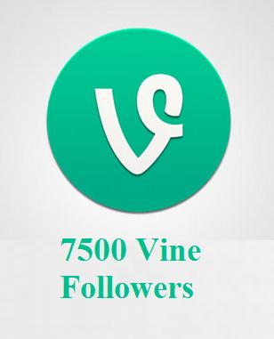 7500 Vine Followers