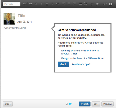 Clients recommendations on Linkedin