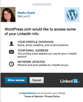 Sharing of Content on LinkedIn