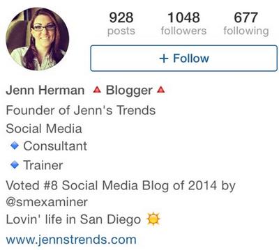complete your bio on instagram