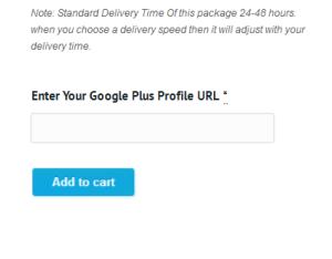 enter your google+profile url