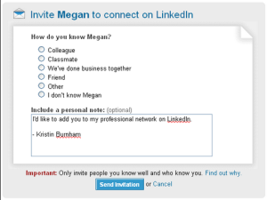 friends connection on LinkedIN