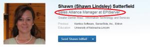 status update on Linkedin