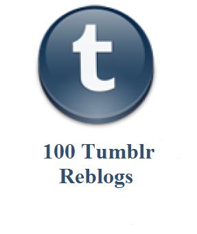 100 tumblr reblogs