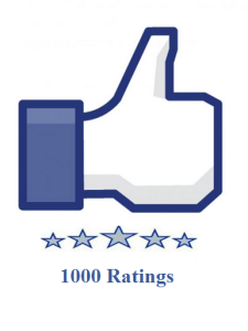 1000 facebook fanpage ratings