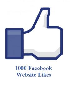 1000 facebook website likes