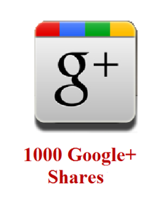 1000 google+ shares