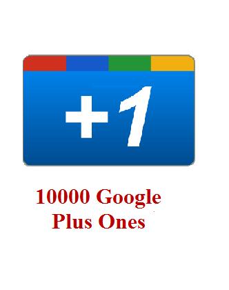10000 google+ ones
