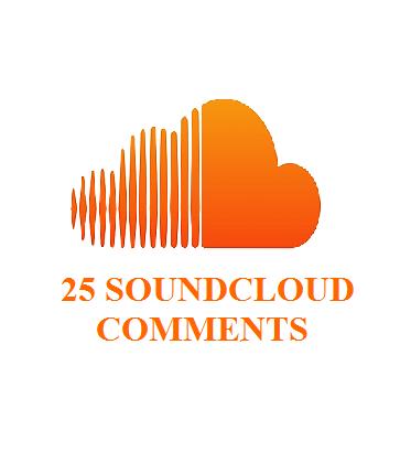 25 soundcloud comments