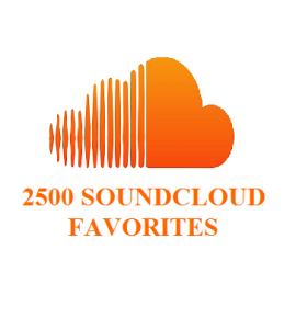 2500 SOUNDCLOUD FAVORITES