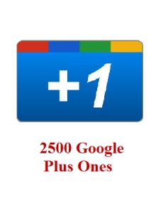 2500 google+ ones