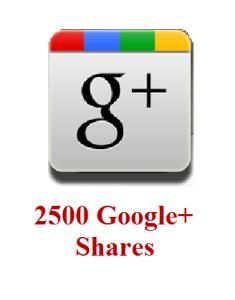 2500 google+ shares