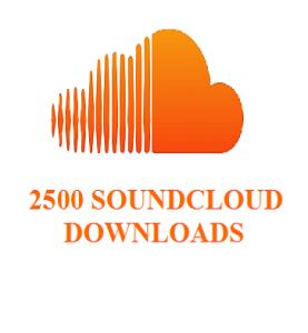 2500 soundecloud downloads