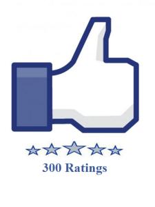 300 facebook fanpage ratings