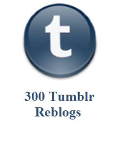 300 tumblr reblogs