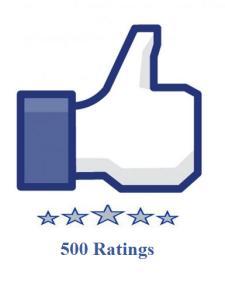 500 facebook fanpage ratings