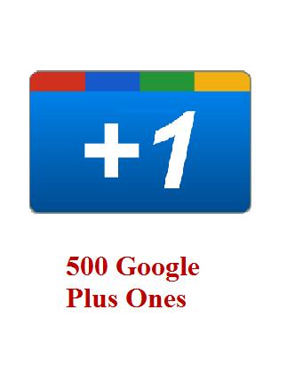 500 google+ ones