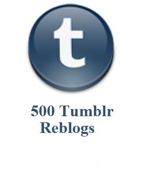 500 tumblr reblogs