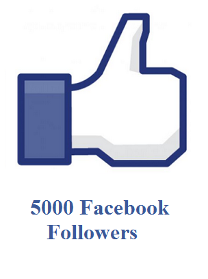 5000 facebook followers