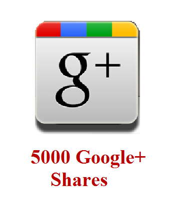 5000 google+ shares