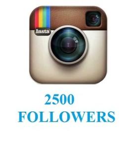 2500 followers
