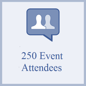 250 Facebook Event Attendees