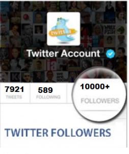 10000 Twitter Folloewrs