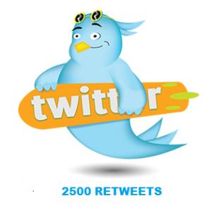 2500 RETWEETS