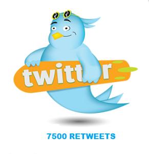 7500 RETWEETS