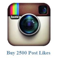 2500 instagram post likes