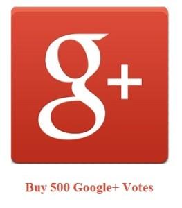 500 Google+ Votes