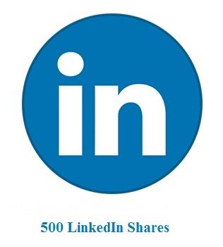 500 LinkedIn Shares