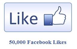 50,000 Facebook Likes