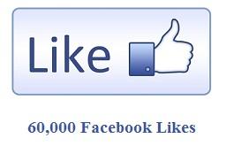 60,000 Facebook Likes