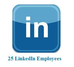 25 LinkedIn Employees