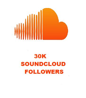 30K SOUNDCLOUD FOLLOWERS
